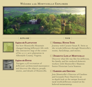 Monticello Explorer provides several virtual tours.