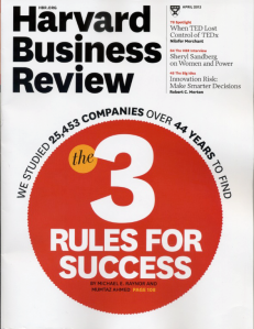 Harvard Business Review, April 2013