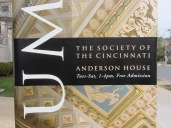 Anderson House: exterior sign close-up