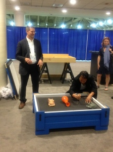 Scott Pittman conducting a crate demonstration.