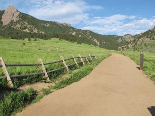 One of the hiking trails at Colorado Chautauqua.