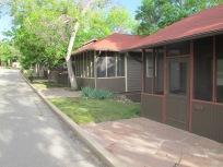 A row of cabins at Colorado Chautauqua.