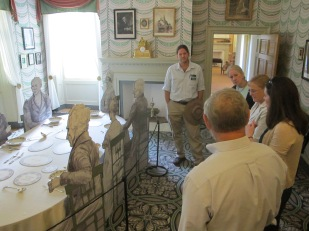 Committee visiting the Dining Room of Montpelier.