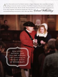 """""""Cry Witch"""" program at Colonial Williamsburg"""