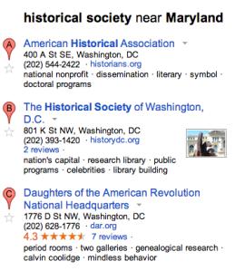 Google Maps Historical Society 2013