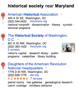 Google Maps Historical Society 2013