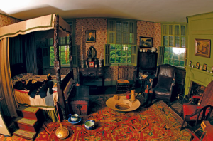 Bedroom at Liberty Hall Museum, Kean University, New Jersey.