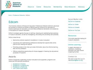 AAM EdCom web page