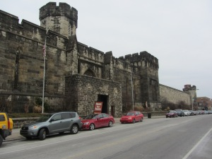 The big gray brooding mass of Eastern State Penitentiary in Philadelphia.