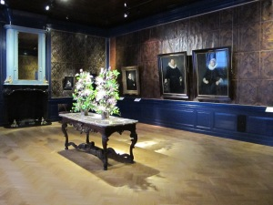 Contemporary flower arrangements at the Frans Hals Museum in Haarlem.