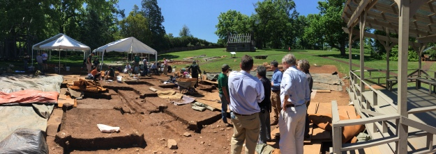 Archaeological excavations at James Madison's Montpelier in Virginia.