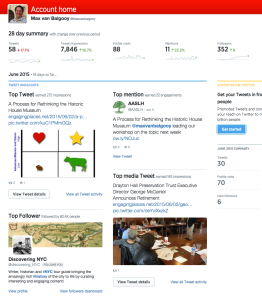 Followers Dashboard from Twitter.