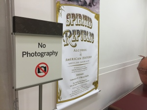 No photography allowed in the exhibits at the National Archives?