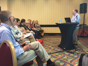 Tim Grove facilitating a lively conversation about historical thinking at the AASLH Annual Meeting in 2015.
