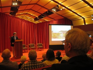 Gunny Harboe discussing the Preservation Master Plan for Taliesin West.
