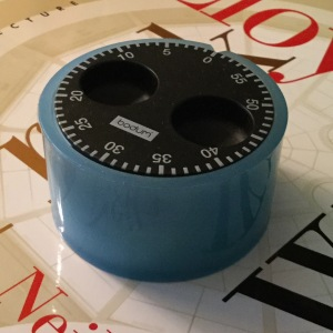 The kitchen timer that's on my office desk.