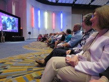 A view of the front row at a keynote address at AASLH/MMA 2016