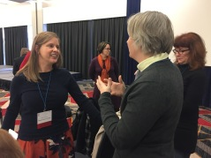 Callie Hawkins and Andrea Jones at the Small Museum Association conference, 2017.
