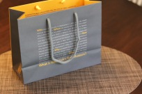 The backside of the New-York Historical Society shopping bag.