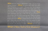 The frontside of the New-York Historical Society shopping bag.